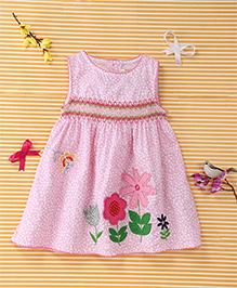 Yiyi Garden Flower Print Dress - Pink