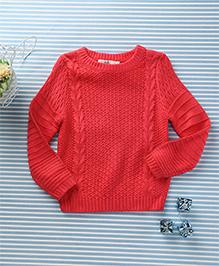 In.f Kids Casual Sweater - Red