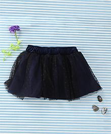 In.f Kids Dot Print Skirt - Black