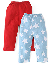 Babyhug Full Length Bottoms Pack of 2 - Red Blue