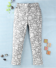 SPT Flower Print Pants - Grey