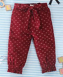 TBB Trendy Printed Pant - Maroon