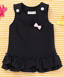TBB Sleeveless Dress With Bow - Black