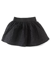 Gini & Jony Skirt Checks Pattern - Black