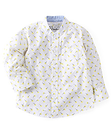Gini & Jony Full Sleeves Printed Shirt - White