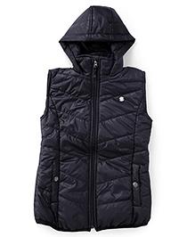 Gini & Jony Sleeveless Hooded Jacket - Black