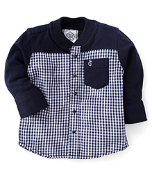 Gini & Jony Full Sleeves Shirt Checks Print - Navy Blue