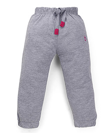 Babyhug Full Length Track Pants With Drawstring - Grey