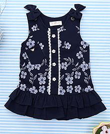 TBB Floral Print Dress - Navy Blue