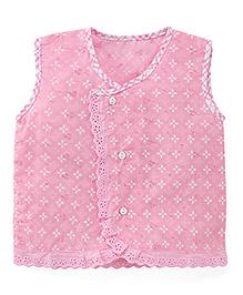 Chocopie Sleeveless Jhabla - Dark Pink