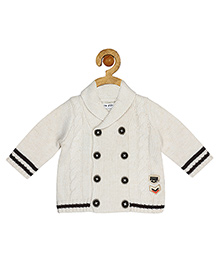 Sucre d'orge Full Sleeves Cardigan Patch Detailing - Off White