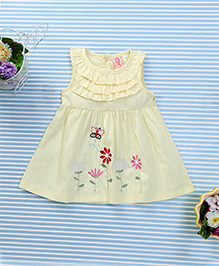 Sunny Baby Floral Printed Dress - Yellow