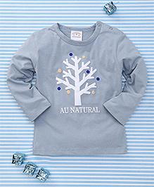 Parent Sweet Natural Print T-Shirt - Slate Grey