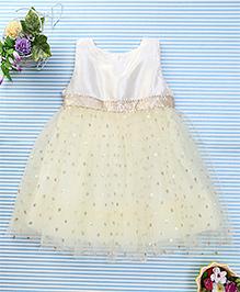 Amigo 7 Seven Shimmer Net Dress - Light Yellow