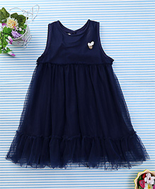 Amigo 7 Seven Net Frilled Dress - Navy Blue