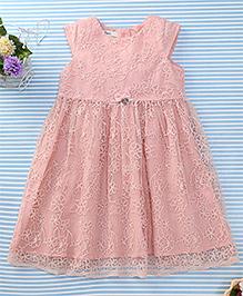 Amigo 7 Seven Flower Print Net Dress - Pink