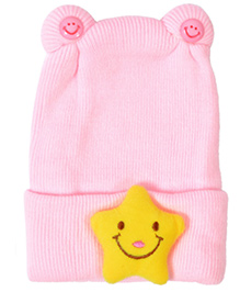 Miss Diva Super Soft & Comfortable Smiley Star Cap - Pink