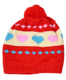 Miss Diva Super Soft & Comfortable Printed Love Cap - Red