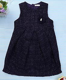 Amigo 7 Seven Flower Applique Dress - Navy Blue