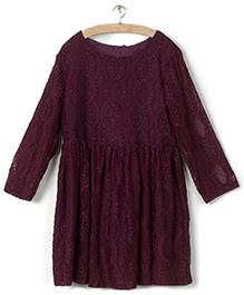 Whitehenz Clothing Lacy Doll Dress - Vine Pink