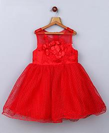 Whitehenz ClothingAdorable Crochet Net Dress - Red