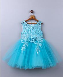 Whitehenz ClothingElegant Rose Beads Dress - Ferozi Blue