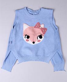 Whitehenz Clothing Squirrel Sleeveless Sweater With Ribbon Belt - Pink