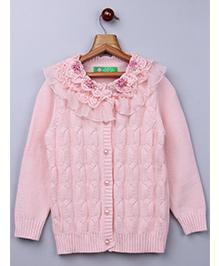 Whitehenz Clothing Elegant Net Floral Sweater - Pink
