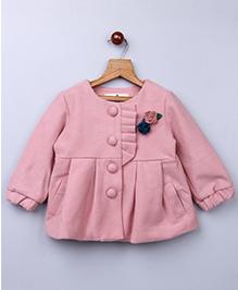 Whitehenz ClothingPlush Coat With Back Bow - Pink