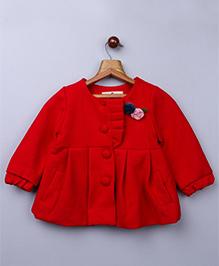 Whitehenz ClothingPlush Coat With Back Bow - Red