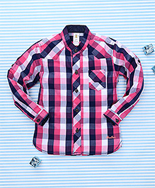 Bee Born Checkered Shirt - Pink
