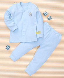 Gigilily Smart Tee & Pant Set - Blue