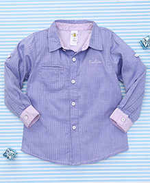 Bee Born Attractive Full Sleeves Shirt - Blue