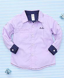 Bee Born Attractive Full Sleeves Shirt - Purple