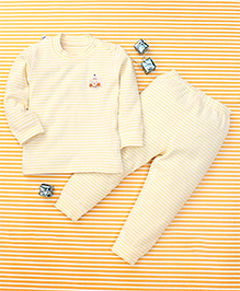 Gigilily Full Sleeves Tee & Pant Set - Yellow