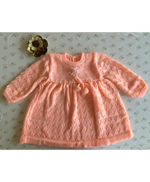 Buttercup From KnittingNani Blended Dress - Peach