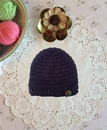 Buttercup From KnittingNani Cap With Fancy Buttons - Purple