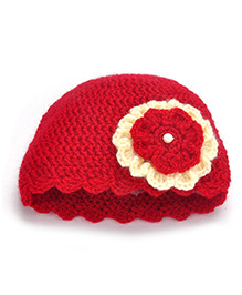 Buttercup From KnittingNani I Love Cap - Red