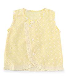 Chocopie Sleeveless Jhabla - Yellow