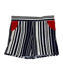 Kadambaby Shorts Stripes Print - Blue White