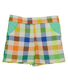 Kadambaby Shorts Checks Print - Multi Color