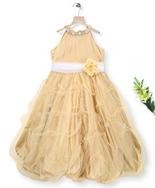 Simply Cute All Around Pearl Gown - Golden