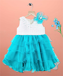 Simply Cute Lily Dress - White & Blue
