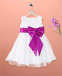 Simply Cute Bow Beauty Dress - White