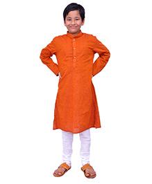 Kilkari Full Sleeves Kurta Pajama Set - Orange