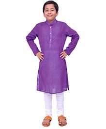 Kilkari Full Sleeves Kurta Pajama Set - Purple