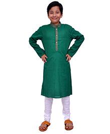 Kilkari Full Sleeves Kurta Pajama Set - Green