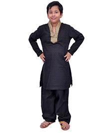 Kilkari Smart Kurta Pajama For The Young Star - Black