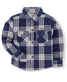 Cucumber Full Sleeves Checks Shirt - Navy