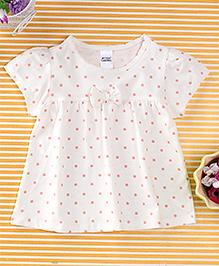 Yiyi Garden Dot Print Dress - White
